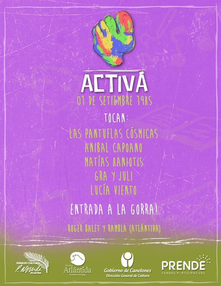 Activá. Espacio Artístico de jóvenes de la zona en el Espacio Cultural a las 19:00 horas