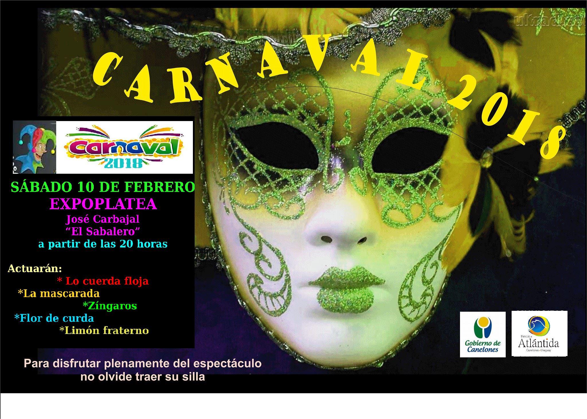 Escenario de Carnaval 2018 en la Expoplatea José Carbajal