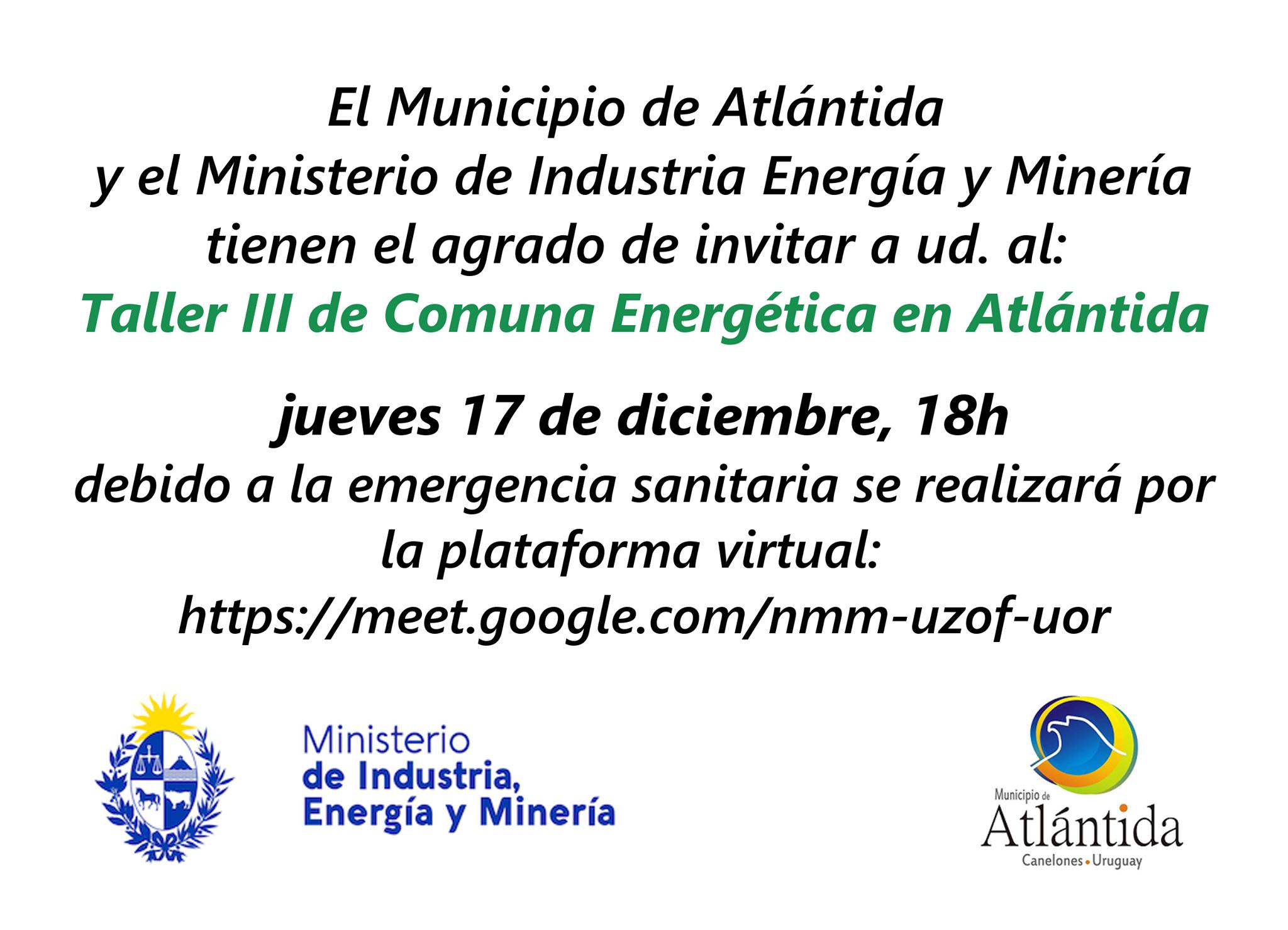 Taller de COMUNA ENERGÉTICA III en Atlántida