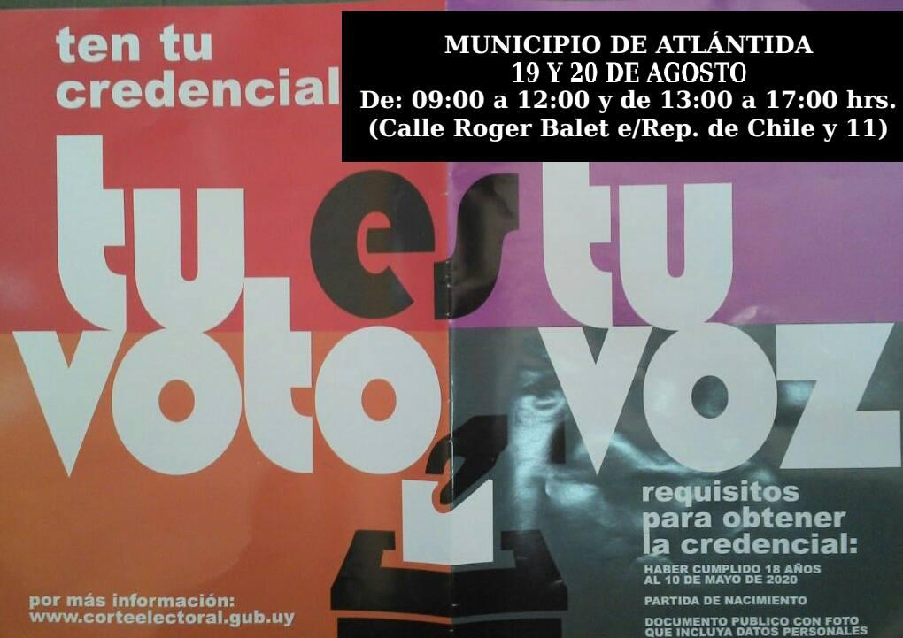 Visita de las mesas de la corte electoral al Municipio de Atlántida