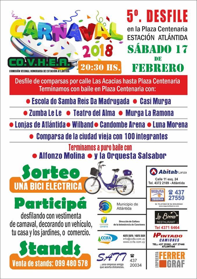5º Desfile de Carnaval en Plaza Centenaria de Estación Atlántida