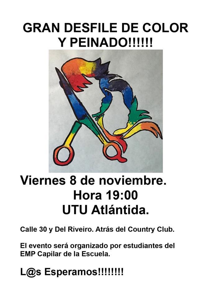 Gran desfile de color y peinado en UTU Atlántida