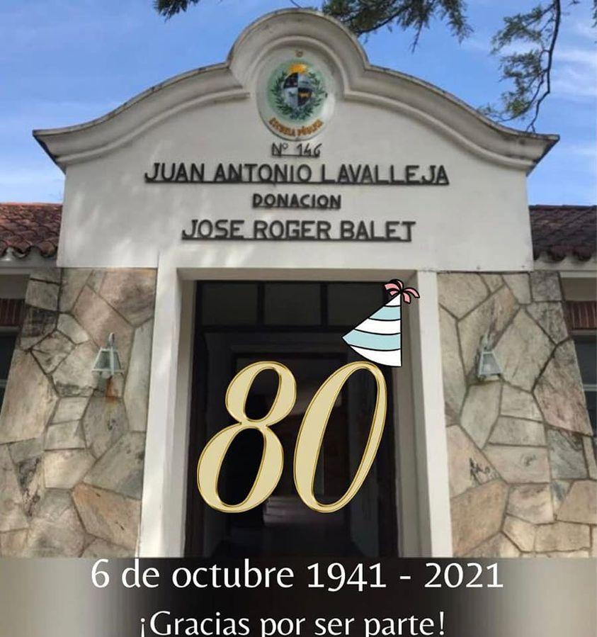 Escuela N°146 de Atlántida cumple 80 años