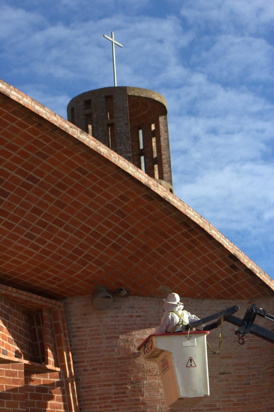Siguen los trabajos en la IGLESIA CRISTO OBRERO de Estación Atlántida
