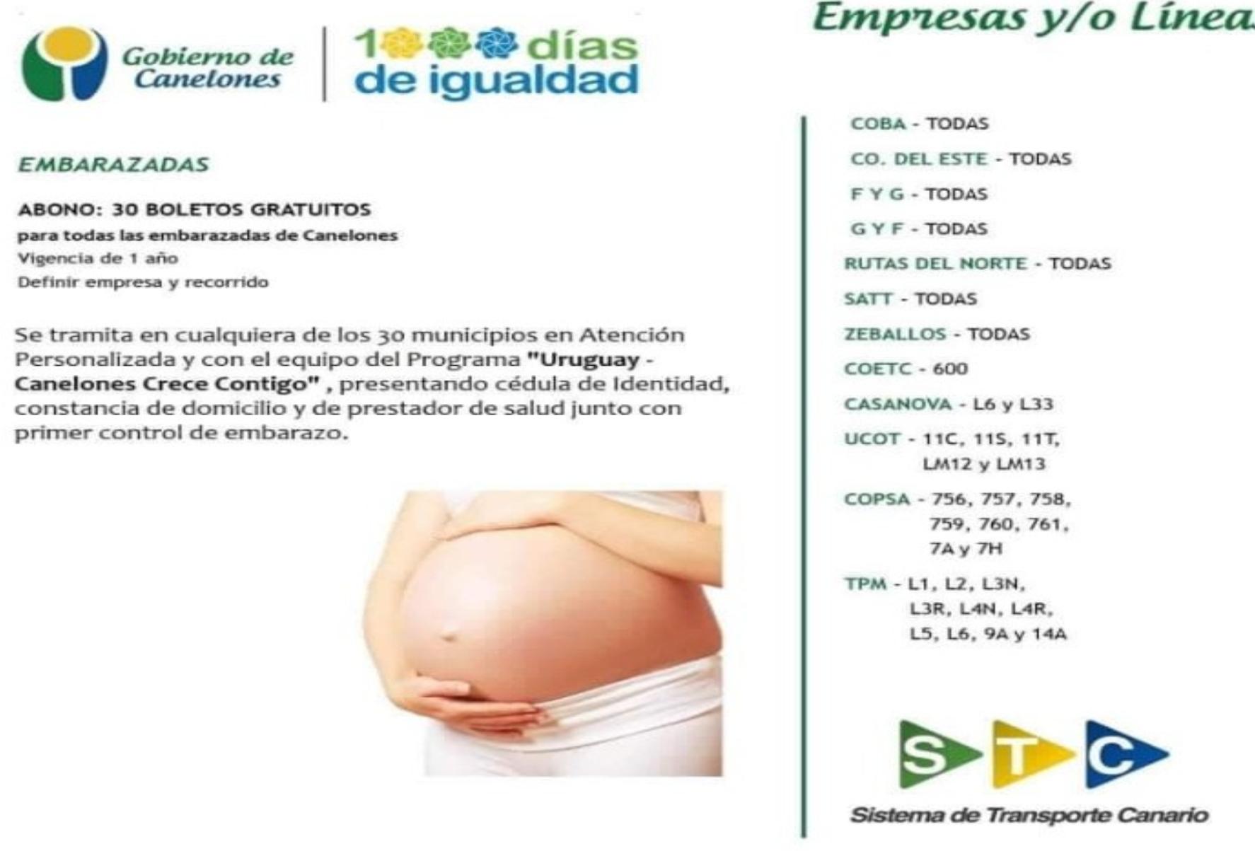 30 Boletos GRATUITOS para embarazadas