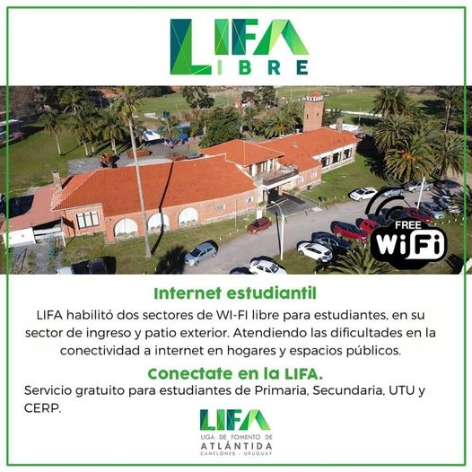 Internet gratuito para estudiantes en LIFA de Atlántida