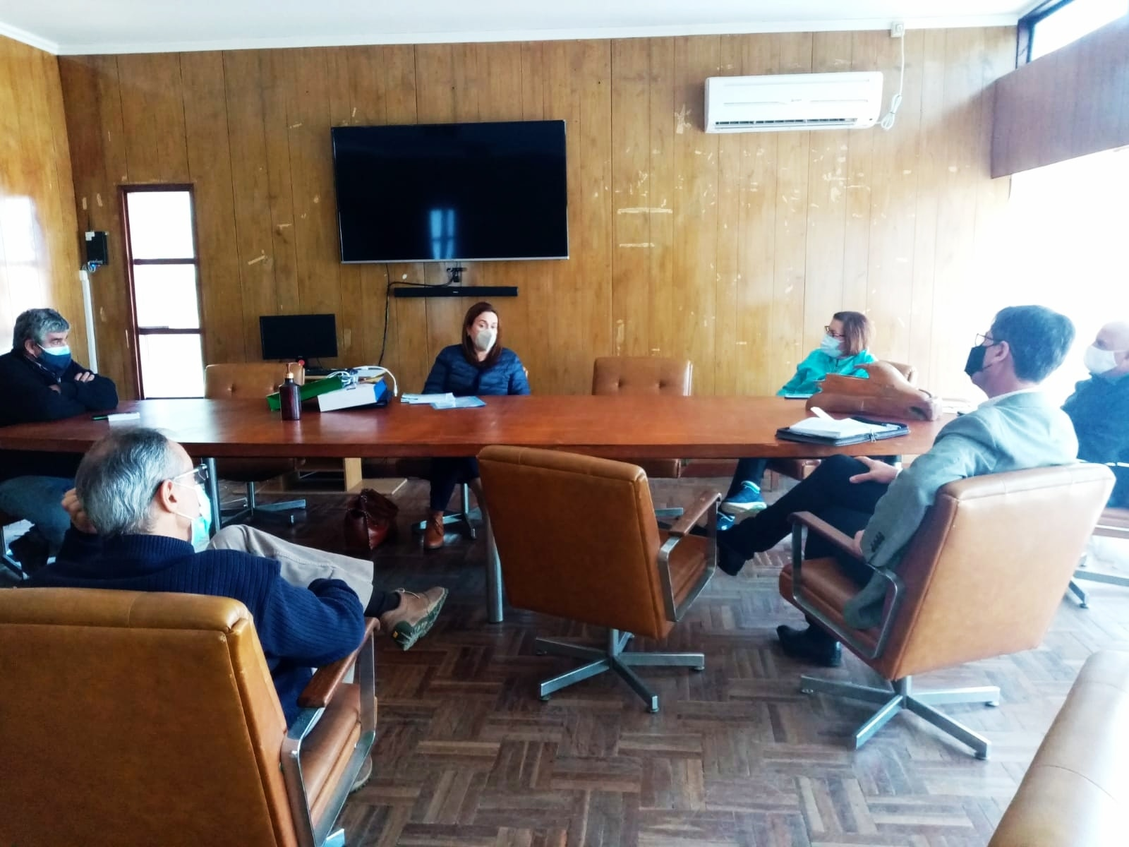 Reunión de representantes de la OPP y el Concejo Municipal de Atlántida