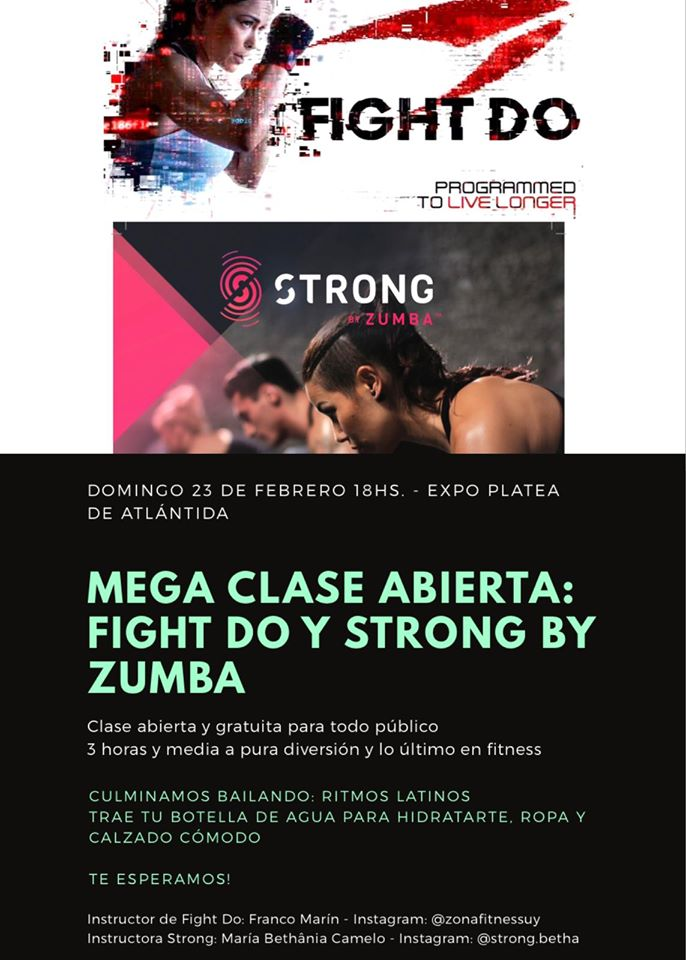 Mega clase abierta: Fight do y Strong by Zumba