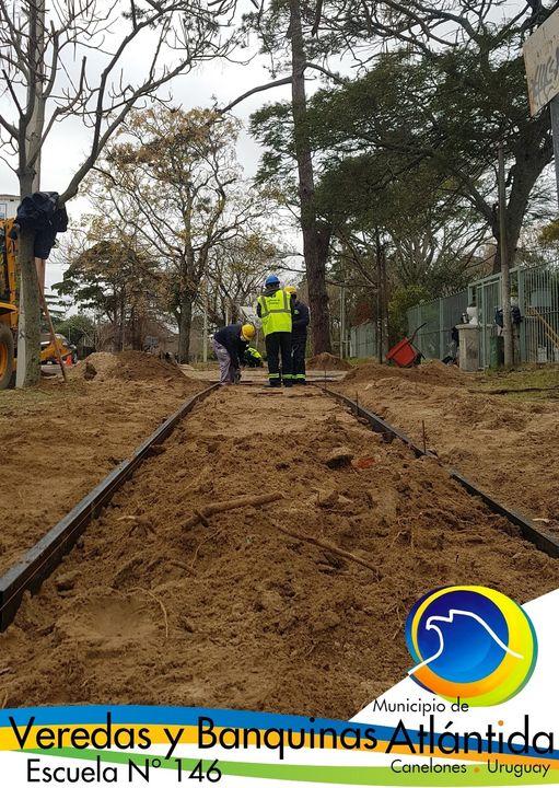 Obras en el entorno de la ESCUELA N°146 de Atlántida