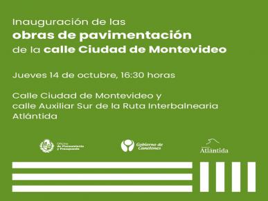"""Inauguración de """"Obra de pavimentación y canalización de pluviales""""."""