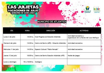 """""""Las Julietas"""" en vacaciones de Julio"""