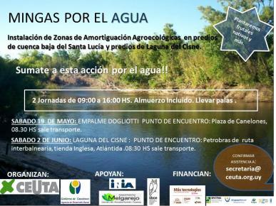 Mingas por el Agua. Instalación de Zonas de Amortiguación Agroecológicasa en predios de cuenca baja del Santa Lucía en la Laguna del Cisne