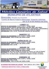 """Vuelven los Móviles Canarios de Salud  al Centro de Barrio """"Rubens Olascoaga"""" de Estación Atlántida."""