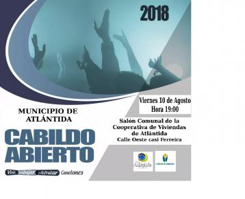 El 10 de Agosto será el próximo Cabildo Abierto del Municipio de Atlántida
